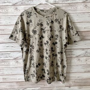Disney Mickey Mouse Graphic Gray Tee